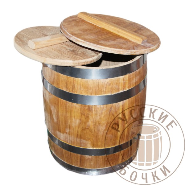 Кадка дубовая 5литров (бочка для засолки) бочковая