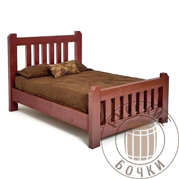 Кровать из массива дерева под старину Лина