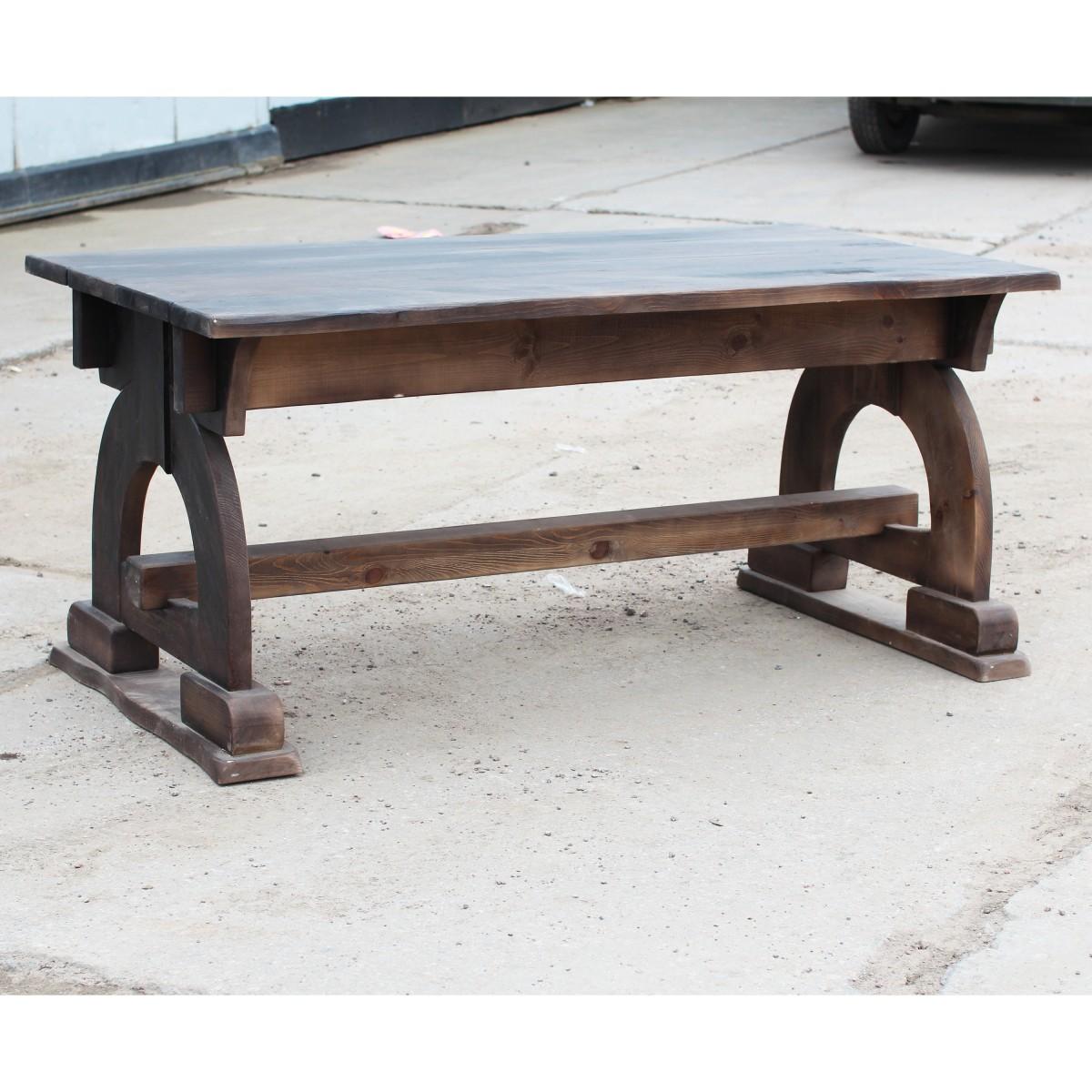 стол из массива дерева под старину