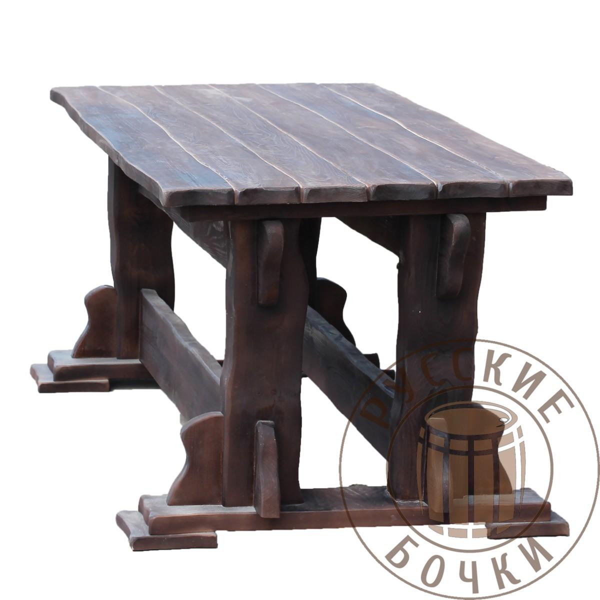 стол из массива дерева под старину 2 купить для дачи сауны