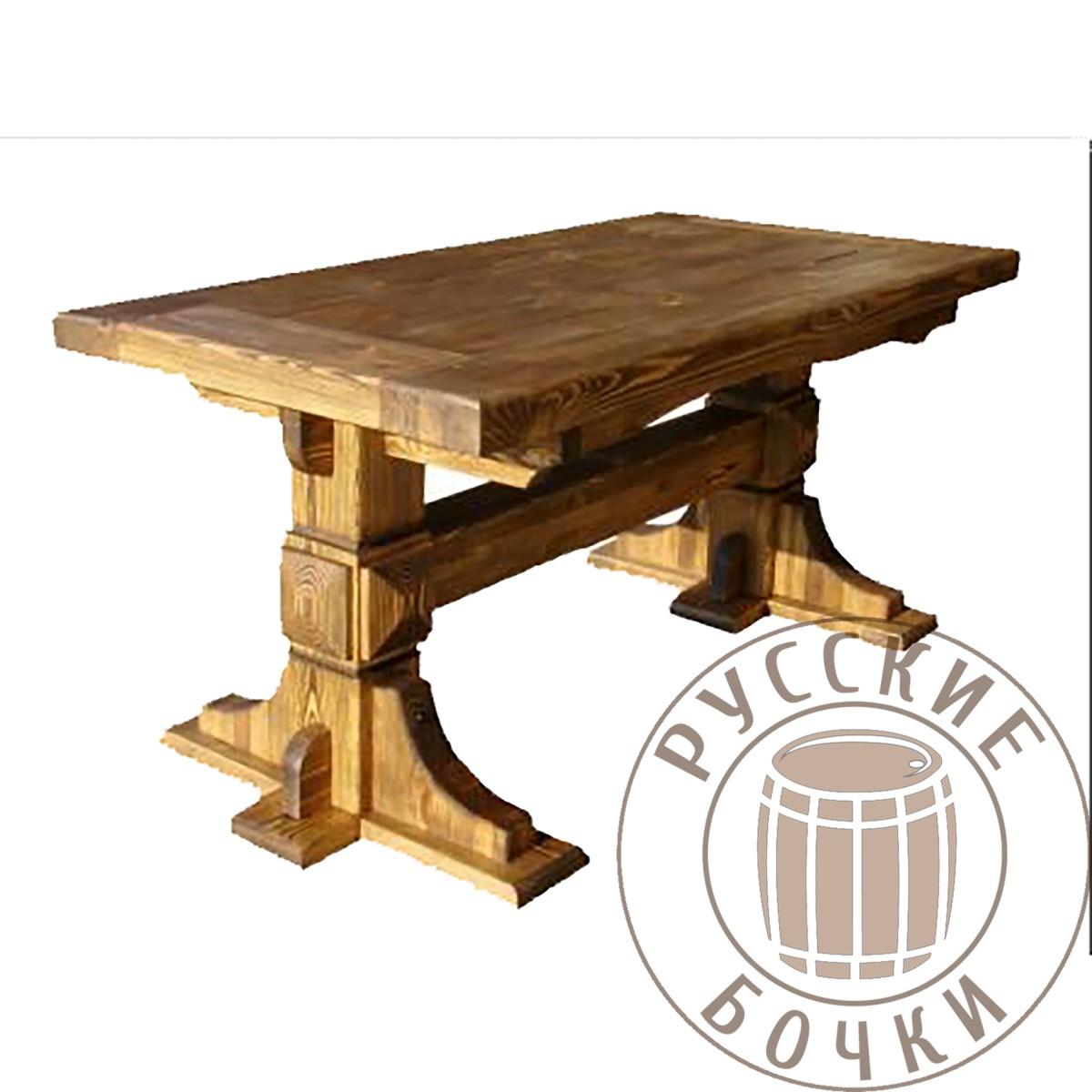 стол под старину из массива дерева