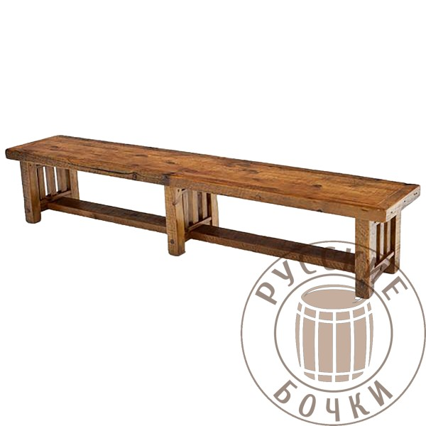 Лавка деревянная из массива