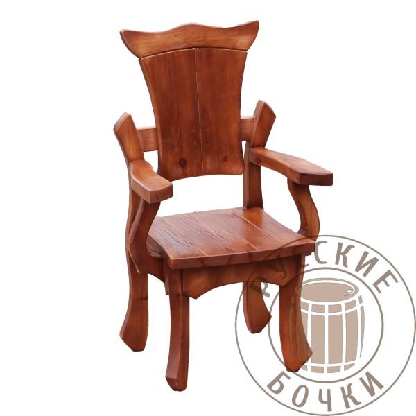 Кресло под старину из массива дерева декоративный
