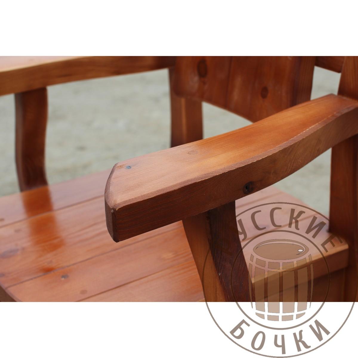 Кресло под старину из массива №3 купить для дома, дачи, сауны