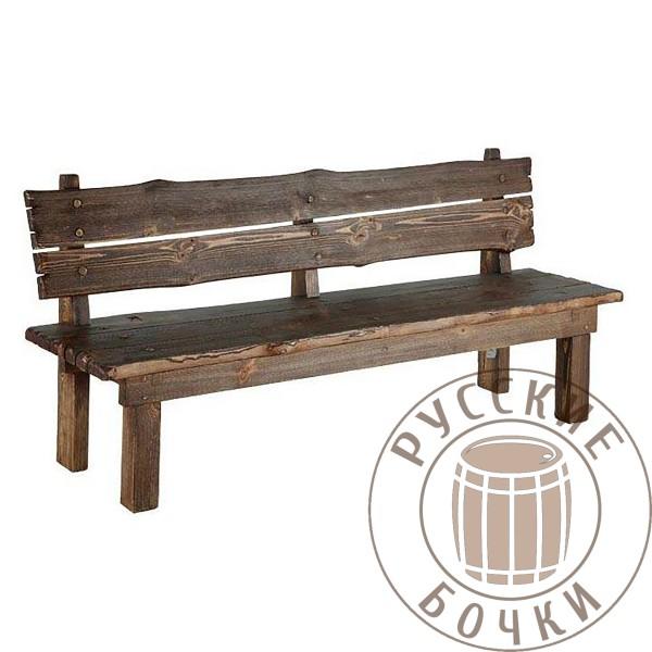 Скамья деревянная из массива